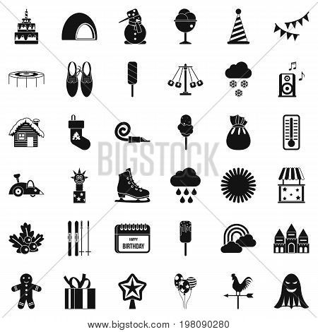 Nice party icons set. Simple style of 36 nice party vector icons for web isolated on white background