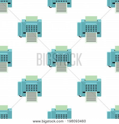 Fax seamless pattern in flat style isolated on white background vector illustration for web