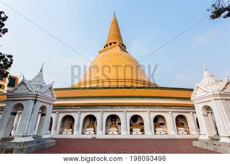 The Phra Pathom Chedi(Big pagoda)Nakhon Pathom ProvinceThailand.