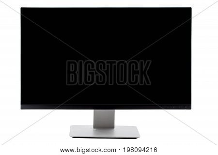 Tv Flat Screen Lcd, Plasma, Tv Mock Up. Black Hd Monitor Mockup. Modern Video Panel Black Screen Moc
