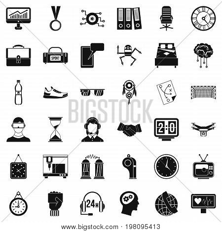 Sport score icons set. Simple style of 36 sport score vector icons for web isolated on white background