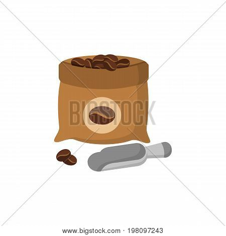 Coffee sack isolated icon vector illustration design. Coffee bag flat icon.