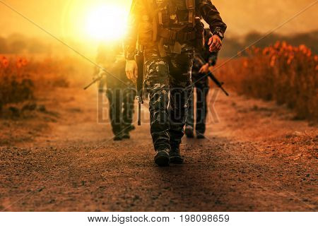 troop of long range patrol military army