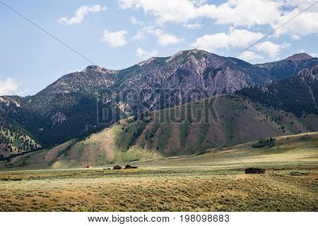 Mountains Under Cloudy Blue Sky
