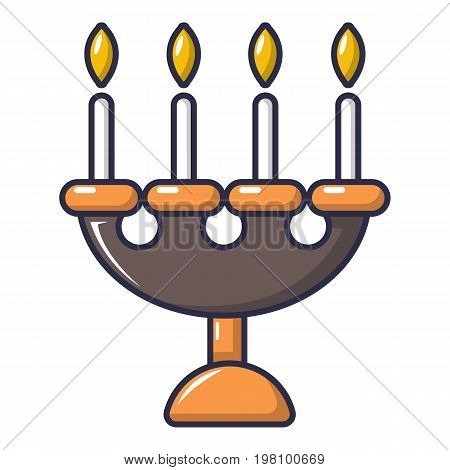 Candlelight candlestick icon. Cartoon illustration of candlelight candlestick vector icon for web design