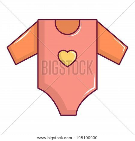 Baby girl clothes icon. Cartoon illustration of baby girl clothes vector icon for web design