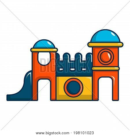 Kids playing house icon. Cartoon illustration of kids playing house vector icon for web design
