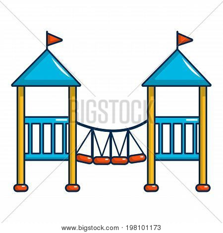 Two castle kid icon. Cartoon illustration of two castle kid vector icon for web design
