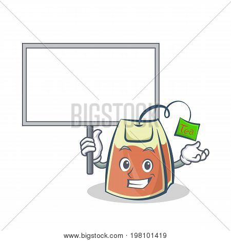 Bring board tea bag character cartoon vector illustration