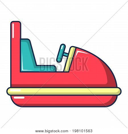 Amusement park bumper car icon. Cartoon illustration of amusement park bumper car vector icon for web design