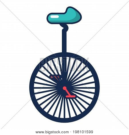 Circus unicycle one wheel bicycle icon. Cartoon illustration of circus unicycle one wheel bicycle vector icon for web design