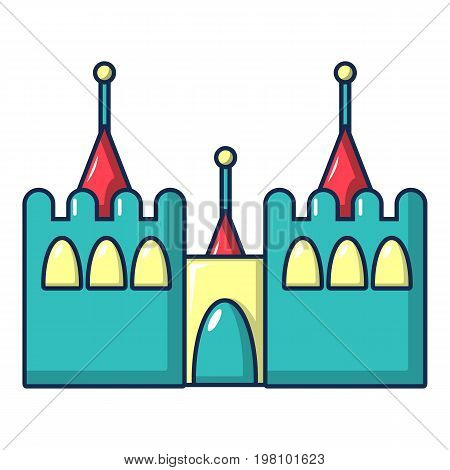 Bouncy castles icon. Cartoon illustration of bouncy castles vector icon for web design