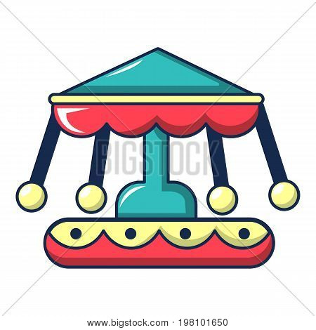 Carousel icon. Cartoon illustration of carousel vector icon for web design