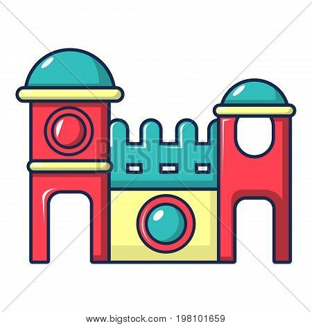 Bounce house icon. Cartoon illustration of bounce house vector icon for web design