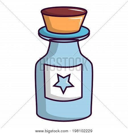 Bottle of magic icon. Cartoon illustration of bottle of magic vector icon for web design