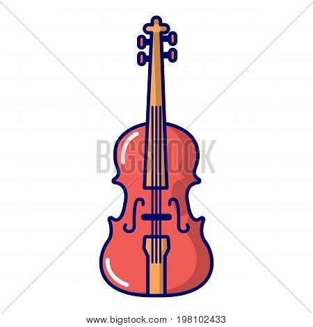 Violine icon. Cartoon illustration of violine vector icon for web design