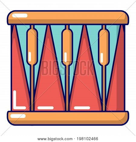 Bass drum icon. Cartoon illustration of bass drum vector icon for web design