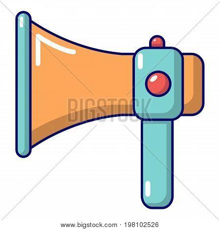 Hand speaker icon. Cartoon illustration of hand speaker vector icon for web design