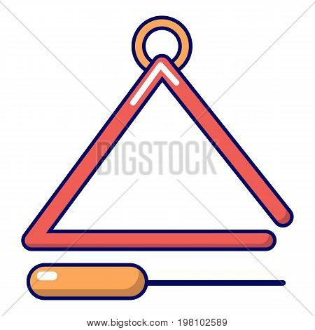 Musical triangle icon. Cartoon illustration of musical triangle vector icon for web design