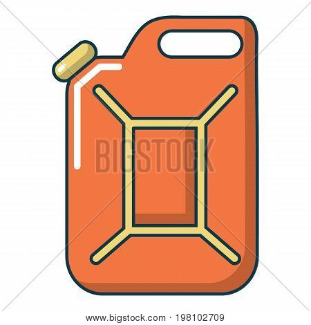 Canister of gasoline icon. Cartoon illustration of canister of gasoline vector icon for web design