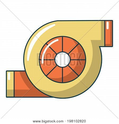 Turbo charger icon. Cartoon illustration of turbo charger vector icon for web design