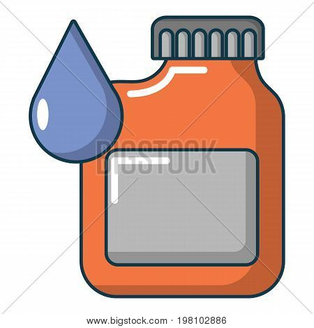 Engine oil icon. Cartoon illustration of engine oil vector icon for web design