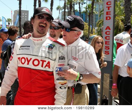 LOS ANGELES - APR 16:  Kim Coates, Les Unger  attend the Toyota Grand Prix Pro Celeb Race at the Toyota Grand Prix Track on April 16, 2011 in Long Beach, CA.