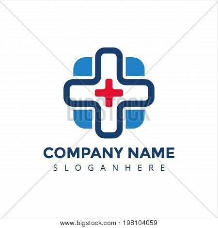 logo, medical logo, clinic logo, modern logo, elegant logo, hospital logo,blue medical logo, medical center logo