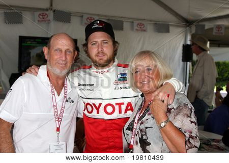 LOS ANGELES - APR 16:  Aj Buckley, Parents  at the Toyota Grand Prix Pro Celeb Race attend the Toyota Grand Prix Pro Celeb Race at the Toyota Grand Prix Track on April 16, 2011 in Long Beach, CA.