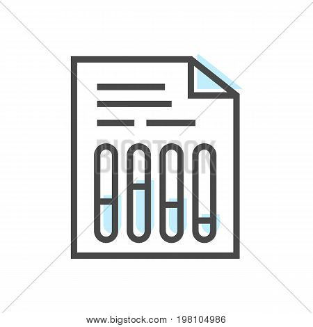 Artificial intelligence icon with chart symbol. Modern cyber linear pictogram, smart new technologies and innovation isolated vector illustration