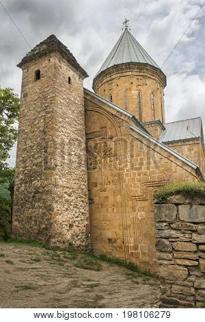 church of the Mother of God in Ananuri fortress, castle complex on the Aragvi River in Georgia