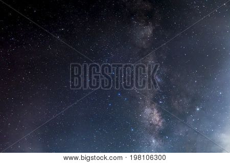 The Milky Way ,long Exposure Photograph.