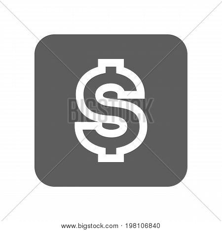 US dollar currency isolated icon. Online financial system, money symbol, worldwide payment service vector illustration.