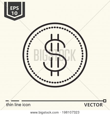 Casino Theme. Vector Single Isolated Icon.