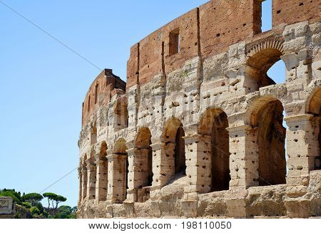 Flavian Amphitheatre or Colosseum in Rome, Italy.