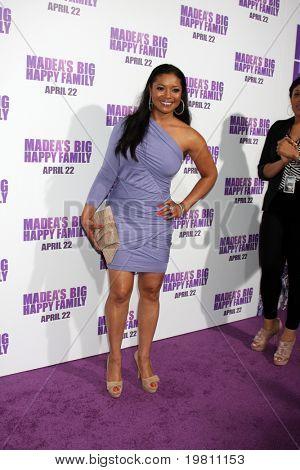 "LOS ANGELES - APR 19:  Tamala Jones arrives at the ""Madea's Big Happy Family"" Premiere at ArcLight Cinemas Cinerama Dome on April 19, 2011 in Los Angeles, CA.."