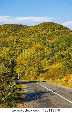 Asphalt Road In Mountainous Countryside