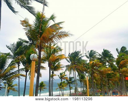 This is a beach of the Caribbean, known as Puerto Cabello, located in the Venezuelan Caribbean