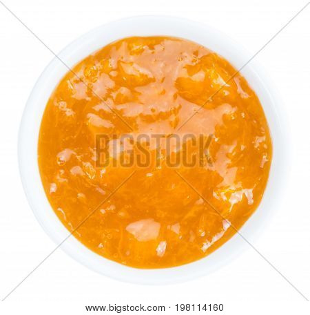Apricot Jam (isolated On White)