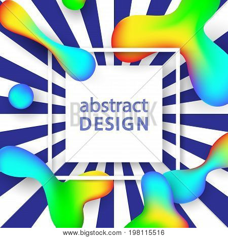 Creative Abstract Vector Background With Fluid Colorful Shapes. Hipster Trendy Design. Poster, Banner, Greeting Card Template.