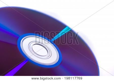 Digital Disc Storage Dvd Isolated On White Background.