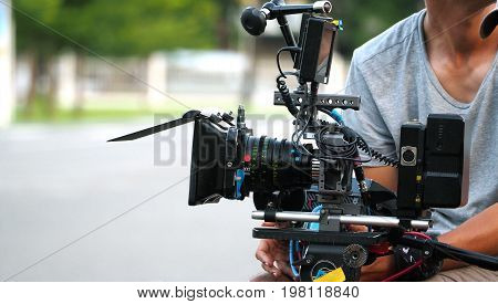 Behind The Scenes Of Movie Shooting Or Video Production.