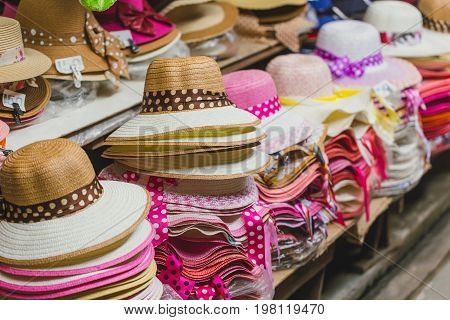 hand weave hat. popular beach wear weave made from nature