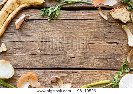A Frame With Space For Text From Food Waste Mockup