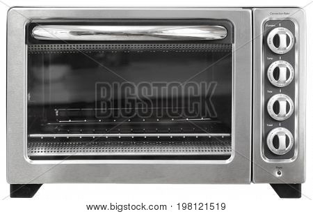 Convectional toaster oven isolated on white background
