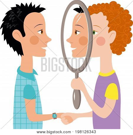 Dialogue two couple people mirror conversation psychology