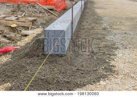 Large Grey Granite Curb Stone