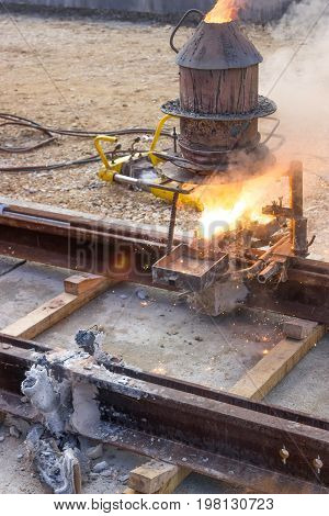 Thermite Welding, Installation Of Tram Tracks