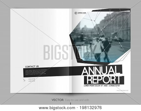 Minimalist Cover Design. Layout for Annual Report, Cover Book, Vector Template Brochures, Flyers, Magazine Design, Leaflet, A4 Booklet. Minimalistic Abstract Templates - Stock Vector