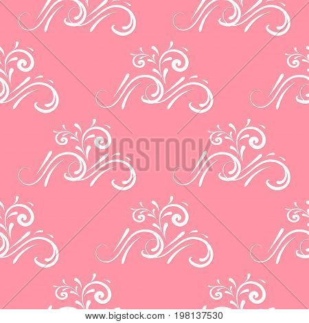 Curl seamless pattern vector  texture, elegance, symbol, vignette, foliate, greeting, repetition, branch